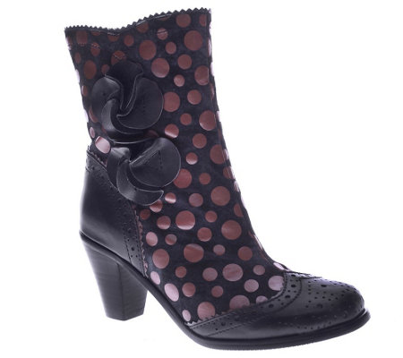 Spring Step Leather Mid-Calf Boots - Perignon