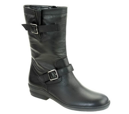 David Tate Dorothy Mid-Calf Leather Boots