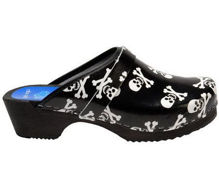 Cape Clogs Skulls Leather Clogs