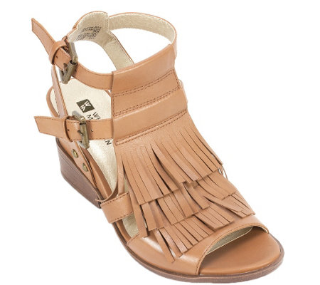 White Mountain Leather Sandals - Saga