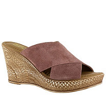 Bella Vita Leather Wedge Sandals - Edi-Italy - A363393