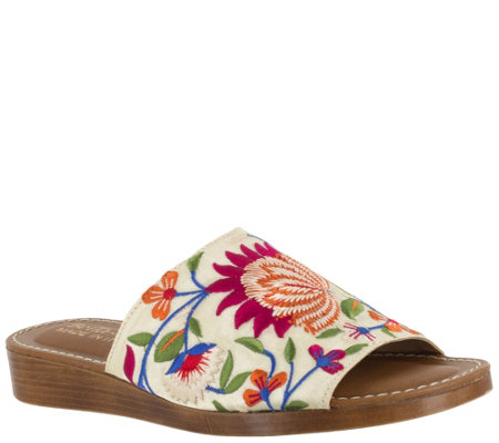 Bella Vita Slide Sandals - Abi-Italy