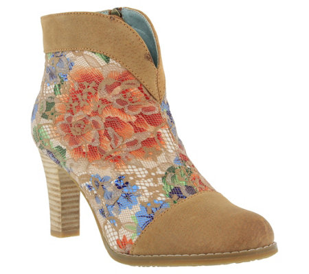 L'Artiste by Spring Step Suede and Textile Boots - Vaso