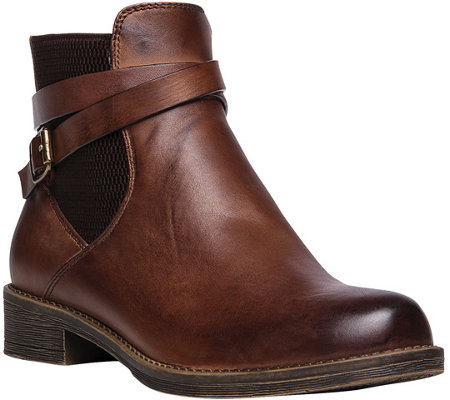 Propet Leather Ankle Boots - Tatum