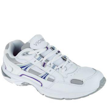 Vionic Orthotic Women's Leather Walking Sneaker - Walker