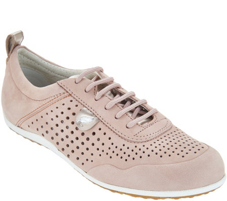 GEOX Perforated Nubuck Sneakers - Vega