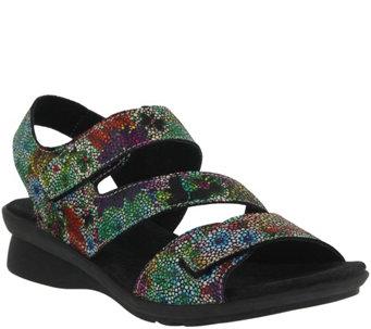 Spring Step Adjustable Leather Sandals - Nadezhda - A357294