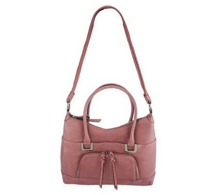 B. Makowsky Glove Leather Zip Top Satchel