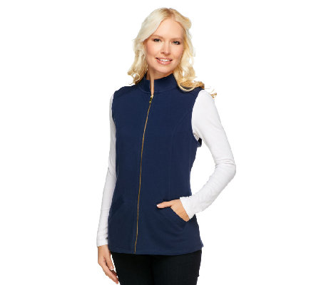 Liz Claiborne New York Essentials Mock Neck Knit Vest