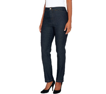 Liz Claiborne New York Regular Hepburn Straight Leg Jeans - A256495