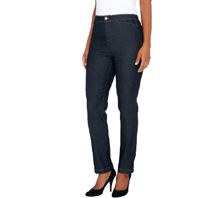 Liz Claiborne New York Regular Hepburn Straight Leg Jeans