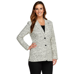 Liz Claiborne New York Boucle Blazer with Pockets - A257195
