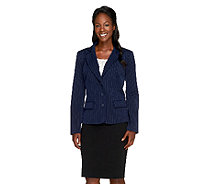 Linea by Louis Dell'Olio Button Front Pinstripe Jacket - A259095