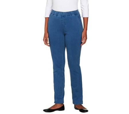"Denim & Co. Petite ""How Comfy"" Side Pocket Jeans"