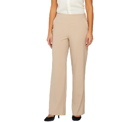 """As Is"" Susan Graver Chelsea Stretch No Waist Full Length Pants"