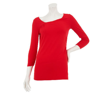 """As Is"" Mark of Style by Mark Zunino 3/4 Sleeve Knit Top"