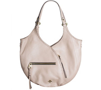orYANY Pebble Leather Hobo with Whip-Stitching - Demi - A275295