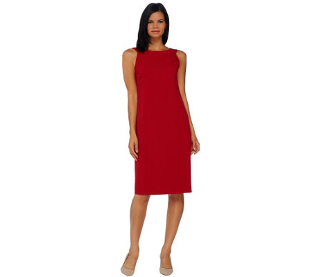 """As Is"" Susan Graver Chelsea Stretch Sleeveless Dress"
