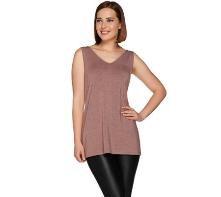 H by Halston Essentials Sleeveless V-Neck Knit Tunic