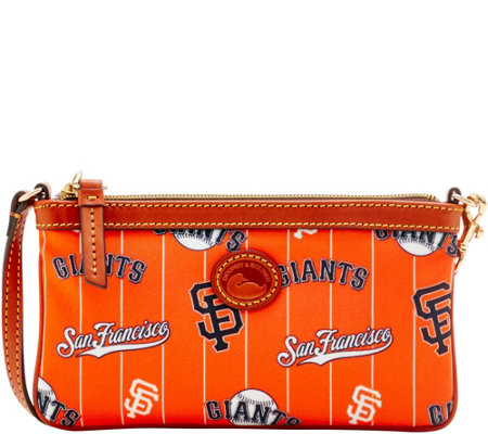 Dooney & Bourke MLB Nylon Giants Large Slim Wristlet