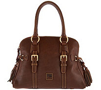 Dooney & Bourke Florentine Leather Domed Buckle Satchel - A282395