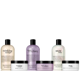 philosophy 6-piece holiday shower gel & souffle set - A285395