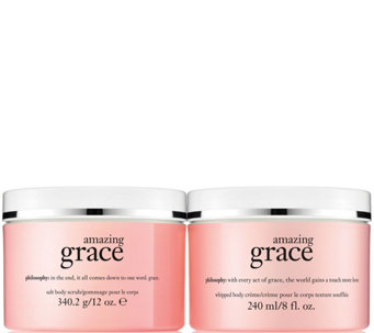 philosophy grace scrub & creme body treatment duo - A288595