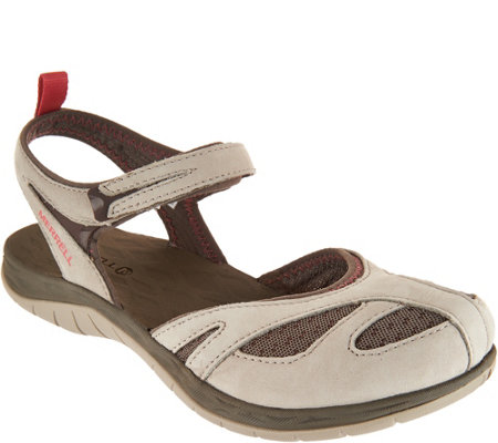 Merrell Waterproof Nubuck Leather Sandals - Siren Wrap Q2