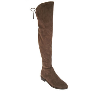 """As Is"" Marc Fisher Faux- Suede Over the Knee Boots - Humor - A289495"