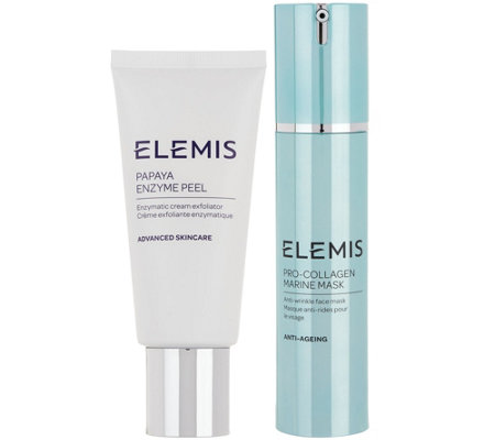 ELEMIS Pro-Collagen Papaya Enzyme Peel & Marine Mask Set