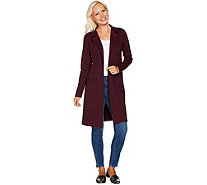 Studio by Denim & Co. Long Sleeve Collared Duster with Pockets - A294095