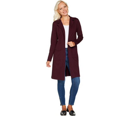 Studio by Denim & Co. Long Sleeve Collared Duster with Pockets