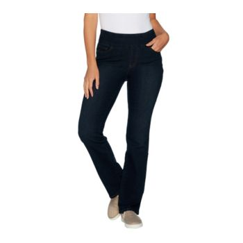 Denim & Co. How Smooth Regular 5- Pocket Slightly Bootcut Jeans