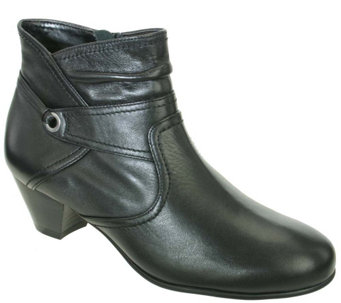 David Tate Leather Booties - Campus - A338195