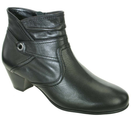 David Tate Leather Booties - Campus