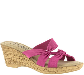 Tuscany by Easy Street Wedge Slide Sandals - Lauria - A338995