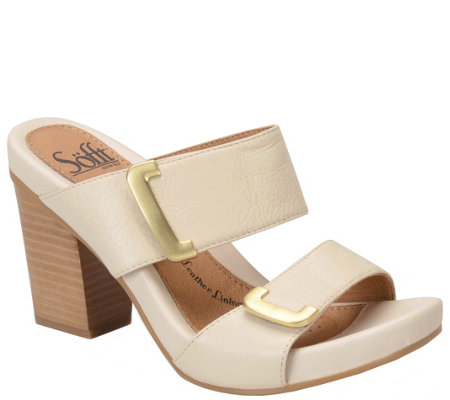 Sofft Slide Leather Sandals - Damia