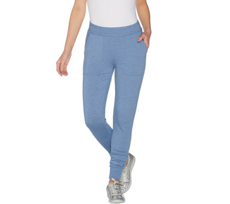 """As Is"" Cuddl Duds Ultra Soft Comfort Petite Jogger Pants"