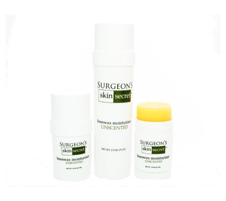 Surgeon Skin Secret's 3-piece Unscented TravelPack