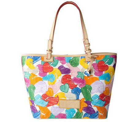 Dooney & Bourke Coated Signature Jumble Duck East/West Tote