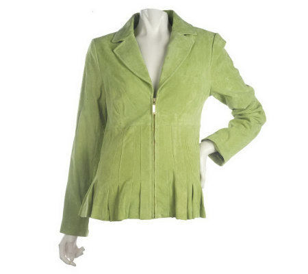 Bradley by Bradley Bayou Suede Jacket with Seaming Detail