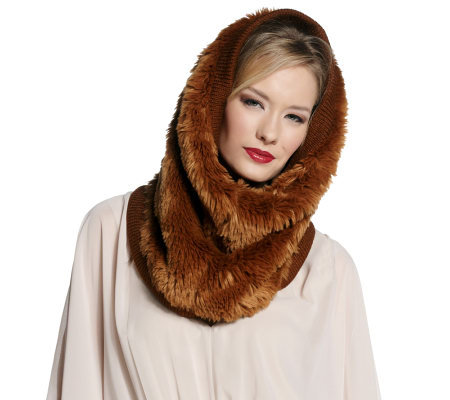 Luxe Rachel Zoe Faux Fur Snood with Lining