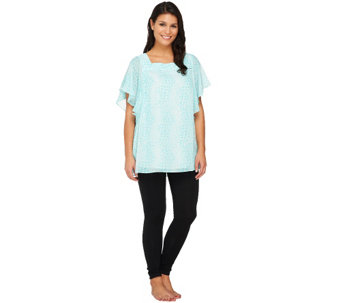 SleepIn by BedHead PJs Square Neck Angel Sleeve Lounge PJ Set - A223196