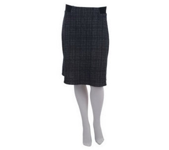 Kelly by Clinton Kelly A-Line Skirt w/Exposed Elastic Detail - A223896