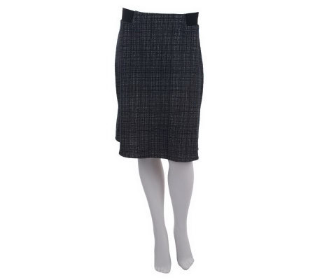 Kelly by Clinton Kelly A-Line Skirt w/Exposed Elastic Detail