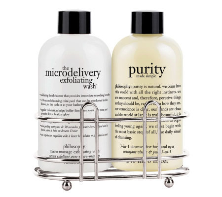 philosophy purity & microdelivery wash duo with caddy