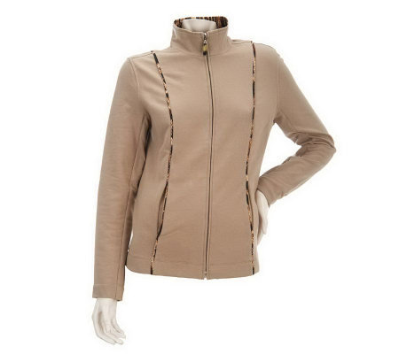 """As Is"" Susan Graver Brushed French Terry Jacket"