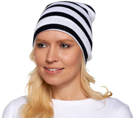 Collection 18 Bold Striped knit Beanie