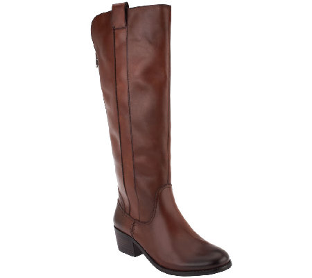 Sole Society Tall Shaft Leather Riding Boots - Georgeann