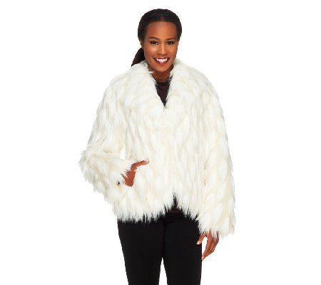 Dennis Basso Platinum Collection Faux Fur Chubby Shrug